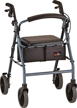 "NOVA 24"" Zoom Rollator Walker, Blue"