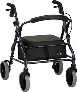 "NOVA 18"" Zoom Rollator Walker, Blue"